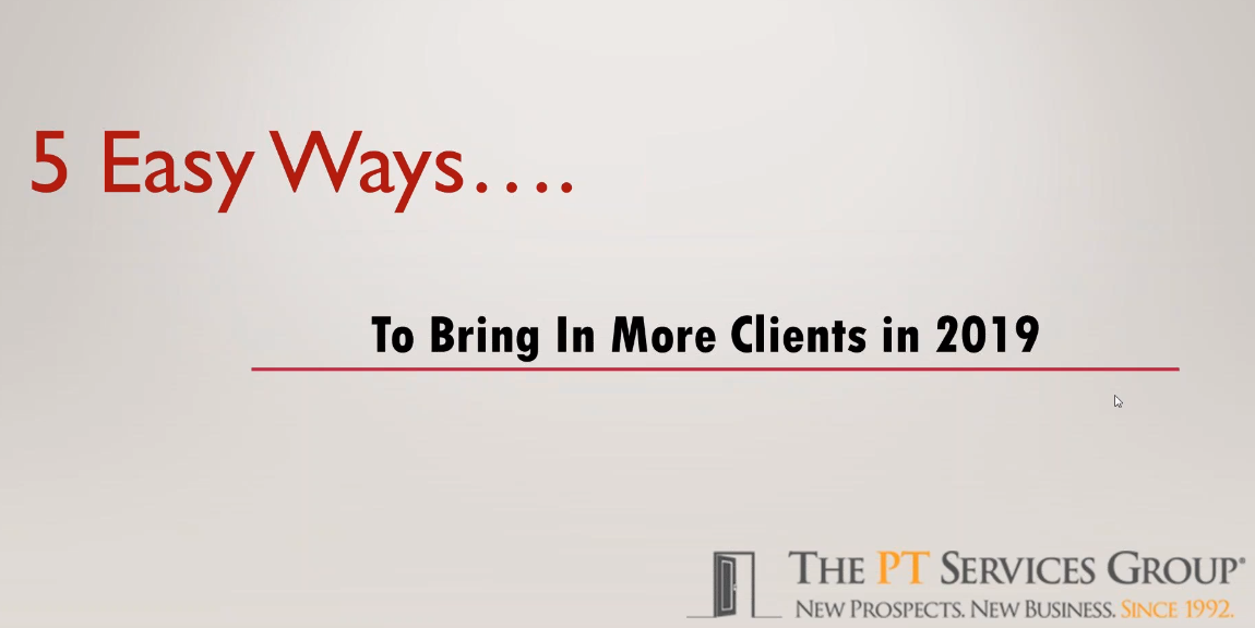 Webinar: 5 Easy Ways to Bring in More Clients